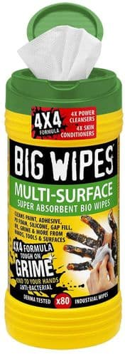 Big Wipes 2X Multi-Surface Cleaning Wipes (Pack of 80)