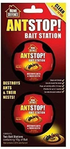 Home Defence Ant Stop Bait Station (Individual pack contains 2 bait) Pack Of 3