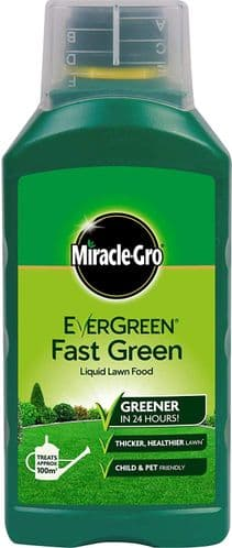 Miracle-Gro Fast Green Liquid Concentrate, Lawn Food - 100 sq m Coverage, Fast-Acting, Extreme Green