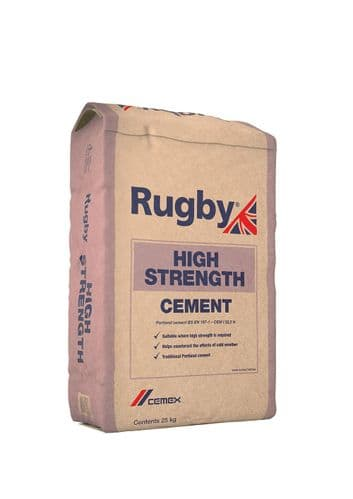 Rugby Portland High Strength Cement 25kg Bag