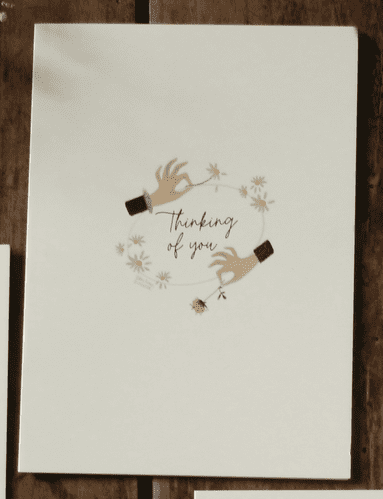 FLOWERS THINKING OF YOU CARD