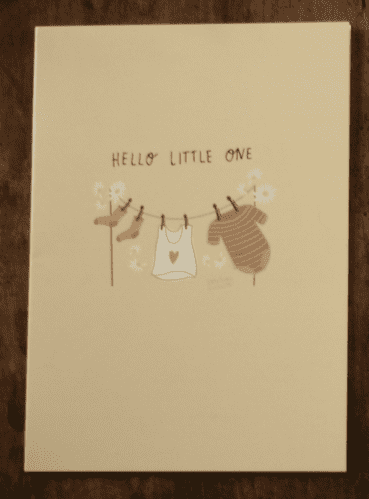 NEW BABY CARD PINK