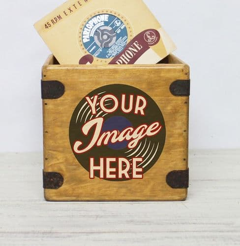 Design Your Own 7 inch  Record Box Full Colour Custom Singles Crate