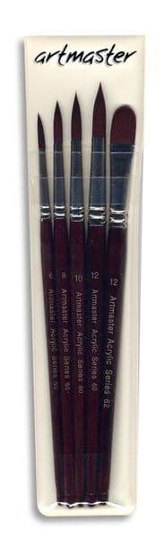 Artmaster Acrylic Brush Set One