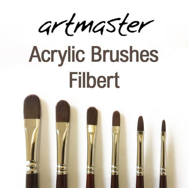 Artmaster Acrylic Paint Brushes Filbert Series 62