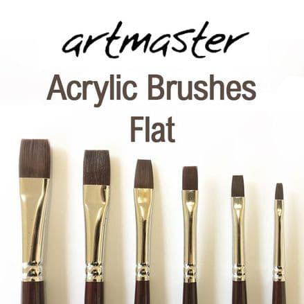 Artmaster Acrylic Paint Brushes Flat Series 61