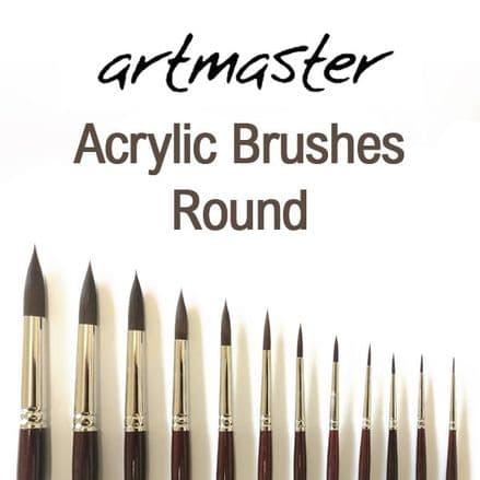 Artmaster Acrylic Paint Brushes Round Series 60