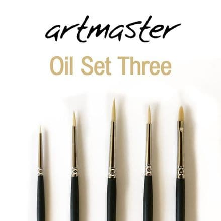 Artmaster Oil Brush Set Three