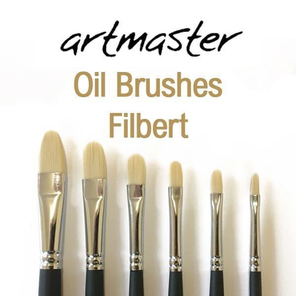 Artmaster Oil Paint Brushes Filbert Series 82