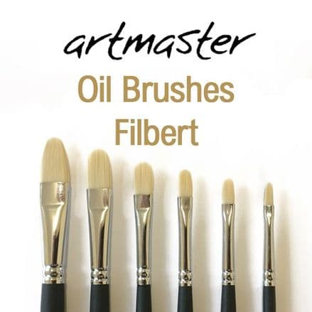 Artmaster Oil Paint Brushes Filbert Series 82