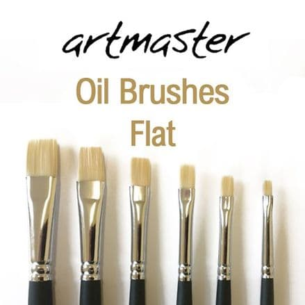 Artmaster Oil Paint Brushes Series Flat 81