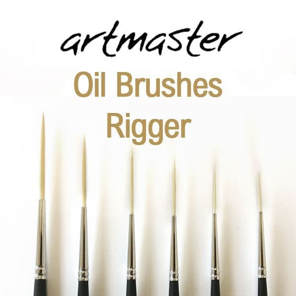 Artmaster Oil Paint Brushes Series Rigger 83