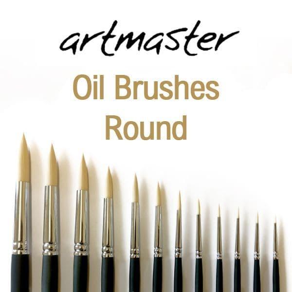 Artmaster Oil Paint Brushes Series Round 80