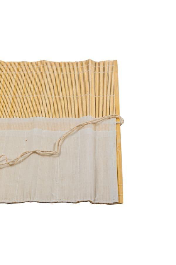 Bamboo Brush Roll - 10 Pockets
