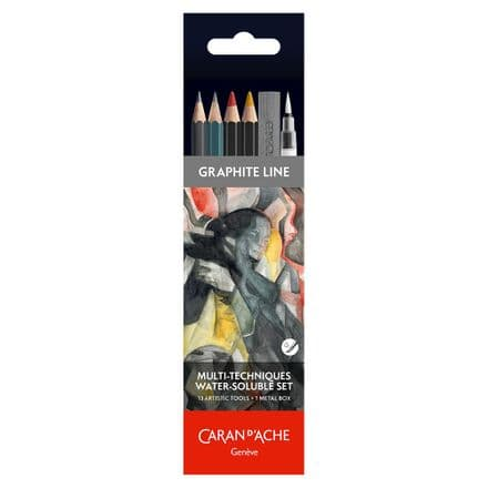 Caran D'ache Graphite Line Pencil Tin Set