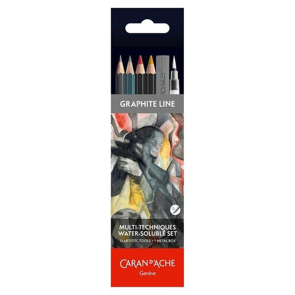 Caran D'ache Graphite Line Pencil Tin Set