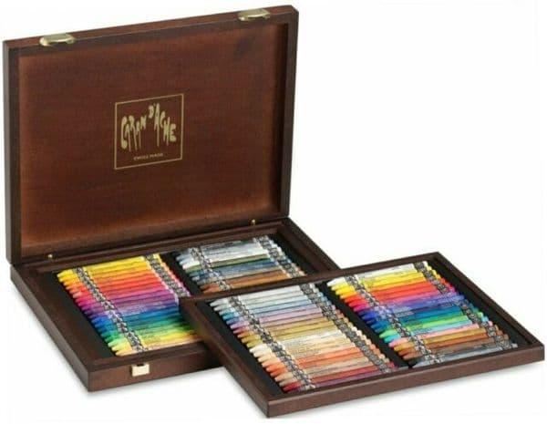Caran D'ache Neocolor I & Neocolor II 80 Wooden Box Set