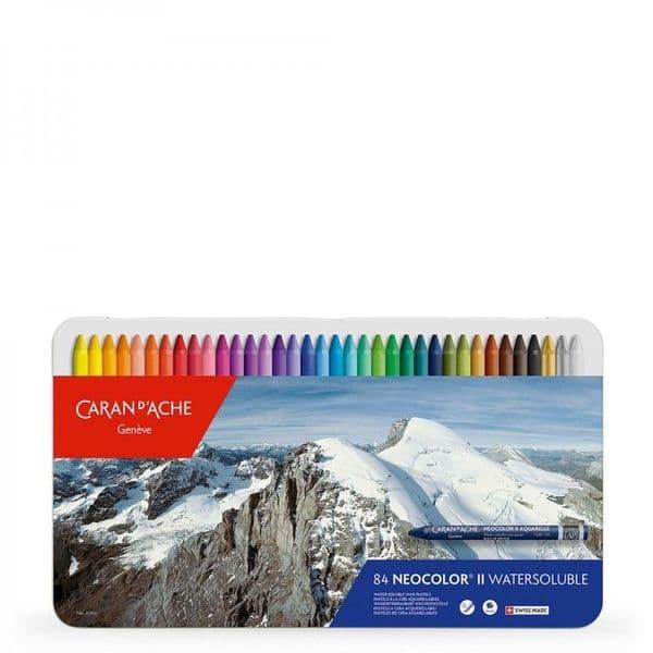 Caran D'Ache Neocolor II Water Soluble Crayon Set of 84