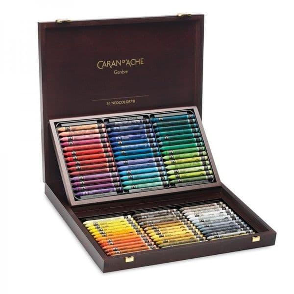 Caran  D'ache Neocolor II Watercolour 84 Wooden Box Set
