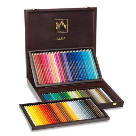 Caran D'ache Pablo Colour Pencils 120 Wooden Box Set