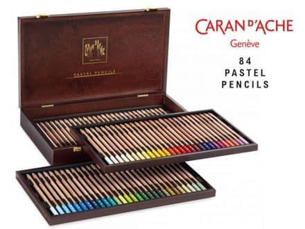 Caran D'Ache Pastel Pencil Wooden Box Set of 84