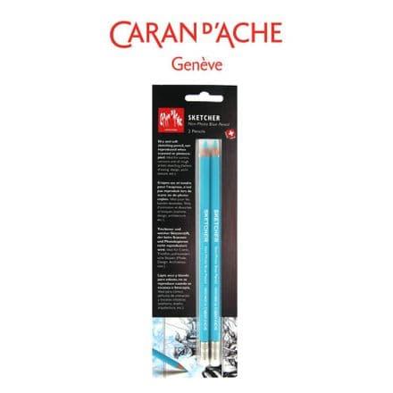Caran D'Ache Sketcher Non Photo Blue Pencil set of 2