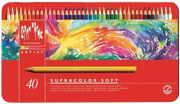 Caran D'Ache Supracolor Watercolour Pencils Set of 40