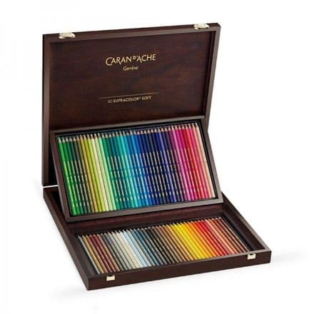 Caran D'ache Supracolour 80 Pencil Wooden Box Set