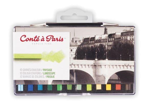 Conte Carres Crayons 12 Landscape Colours
