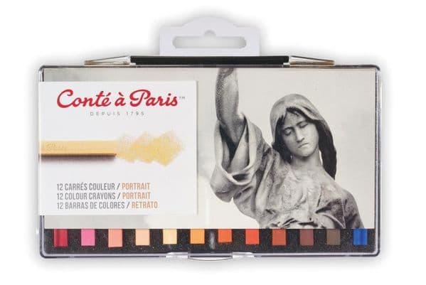 Conte Carres Crayons 12 Portrait Colours