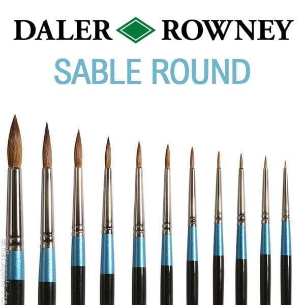 Daler Rowney Aquafine Sable Watercolour Brushes ROUND