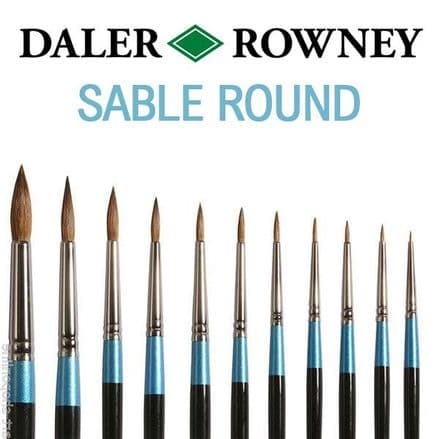 Daler Rowney Aquafine Sable Watercolour Brushes ROUND