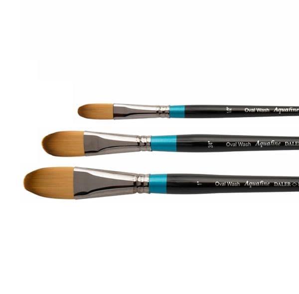 Daler Rowney Aquafine Watercolour Brush Synthetic Oval Wash Brushes
