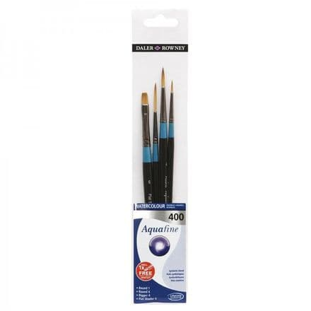 Daler Rowney Aquafine Watercolour Brush Wallet 400