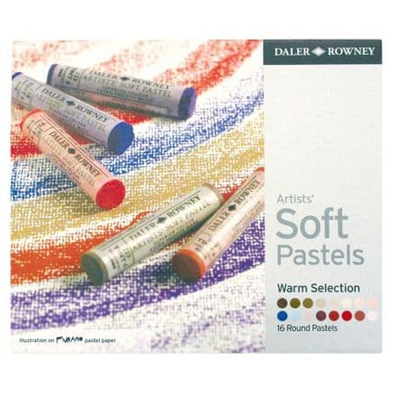Daler Rowney Artists' Soft Pastels Set of 16 Warm Colours