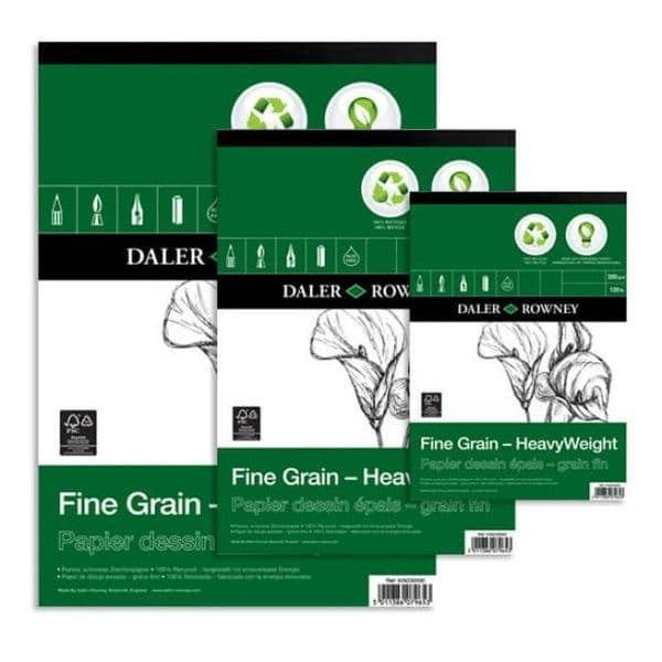 Daler Rowney Fine Grain Eco Heavyweight Sketch Pad 200gsm