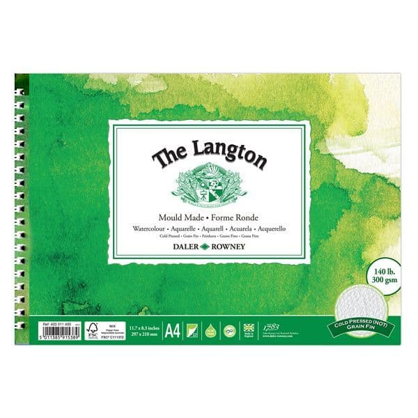 Daler Rowney Langton Spiral Watercolour Pad 140 Not