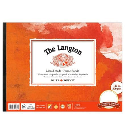 Daler Rowney Langton Watercolour Pad 140 Hot Pressed