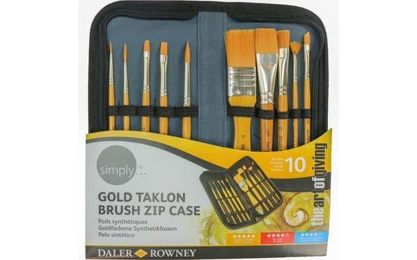 Daler Rowney Simply Gold Taklon Brush Zip Case