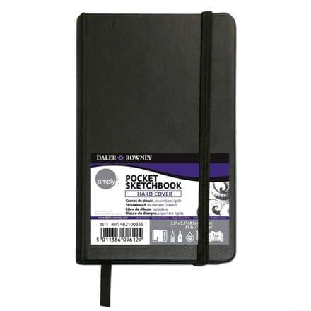 Daler Rowney Simply Pocket Sketchbook Hard Cover
