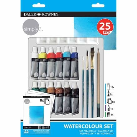 Daler Rowney Simply Watercolour Set 25 Pieces
