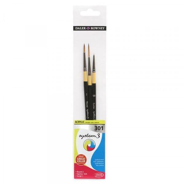 Daler Rowney System 3 Acrylic Brush Wallet 301