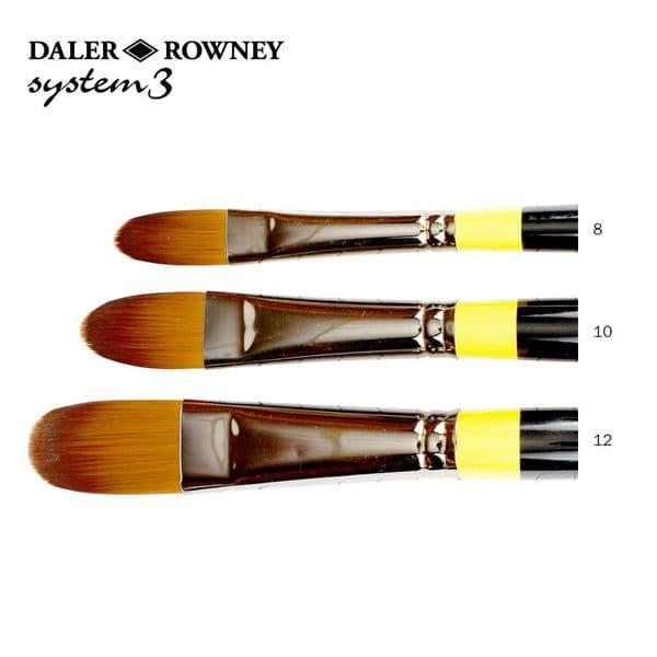 Daler Rowney System 3 Acrylic Filbert Long Handle Brush