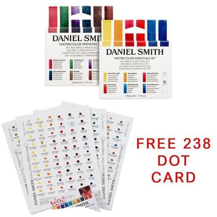 Daniel Smith Primatek Set and Essential Set 5ml Set of 12 With Free 238 Dot Card