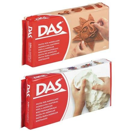 DAS Terracotta and White Air Drying Modelling Clay