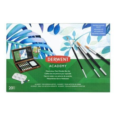 Derwent Academy Watercolour Wooden Box Set
