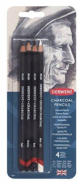 Derwent Charcoal Pencil set of 4 pencils