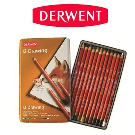 Derwent Drawing Pencil Tin Set of 12