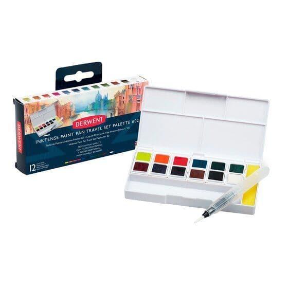 Derwent Inktense Paint Pan Travel Set 2