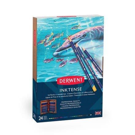 Derwent Inktense Pencil Wooden Box Set of 24